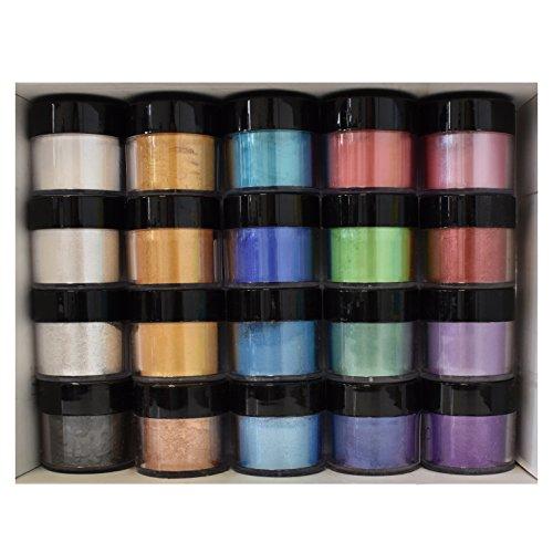 Daily Art Pearl Mica Pigment Powder Set 20Farben, 5g je (Pigment-farbe)