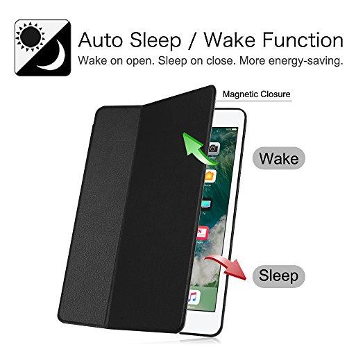 Fintie iPad 2017 9.7 Zoll / iPad Air 2 / iPad Air Hülle - [Slim Shell] Superleicht Folio Stand Schutzhülle mit Auto Sleep / Wake, Multi-Winkel Betrachtung für Apple iPad 2017, iPad Air 1 2, Schwarz - 3