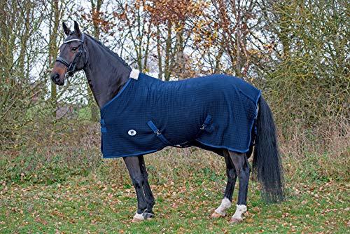 BAX Pferdedecke für Pferde, mit Feuchtigkeitstransport, Thermo-Block, Fleece, Größe 1,8 m