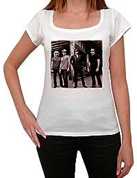 Bon Jovi Group, tee shirt femme, imprimé célébrité,Blanc, t shirt femme,cadeau