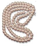 ❤️HobbyHerz 210 Stück hochwertige Runde Kunstperlen/Glasperlen mit Loch zum Basteln   Perlen-Kette selber Machen (Rosa, 8mm)