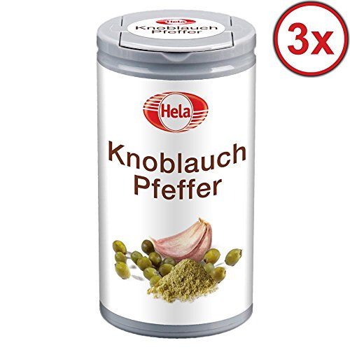 Hela Knoblauch Pfeffer 3er Set (3x60g Dose)