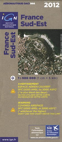 OACI944 FRANCE SUD-EST 2012 1/500.000