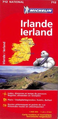 Irlande IERLAND 11712 CARTE ' NATIONAL ' MICHELIN KAART