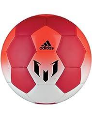 adidas Q1 Balón de Fútbol Línea Messi, Hombre, Blanco (Blanco / Rojo / Rojsol), 5
