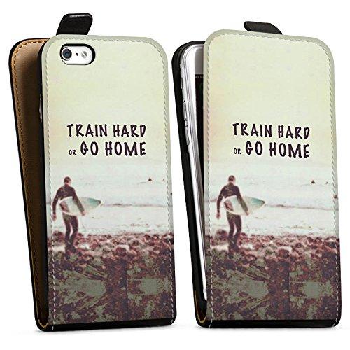 Apple iPhone X Silikon Hülle Case Schutzhülle Sport Training Fitness Downflip Tasche schwarz