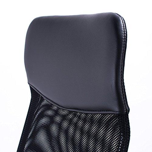 51EE26ZmA1L - Poptoy - Silla de escritorio giratoria con respaldo alto con malla y altura ajustable para el hogar y la oficina