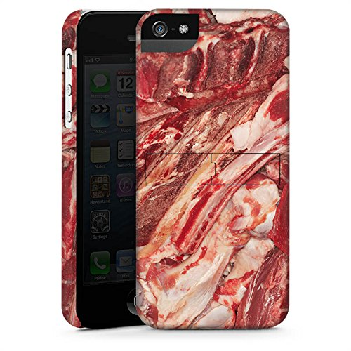 Apple iPhone 5c Silikon Hülle Case Schutzhülle Bacon Design Schinken Premium Case StandUp