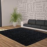 Feli Comfort Tappeto shaggy, XL, 50mm di spessore, nero, 80 cm x 150 cm