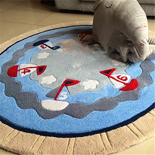 Nursery tappeti e moquette creativo cartoon barca a vela tappeto tappeto super morbido antiscivolo assorbe zerbino lavabile ingresso tappeto scarpe da moquette soggiorno sedia tappetino cuscino decora