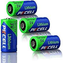 PKCELL ultra Photo DL123 Baterías de litio de 3 V CR123 A EL123 CR17345 - Pack de 4