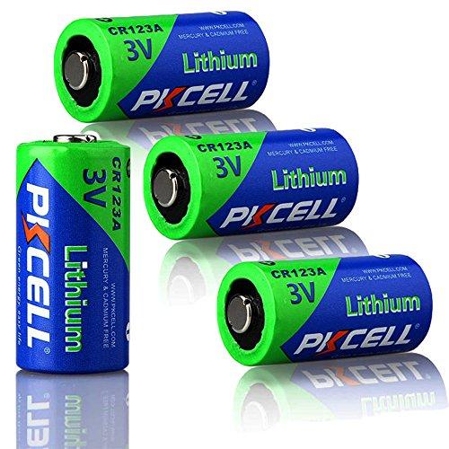 CR123A CR17345 DL123A 3V 1500mAh Photo Lithium Batterie 4-er-Pack (Streamlight-batterie-pack)