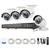 [Professional POE] Annke 8CH 6.0MP POE NVR Security System with 4x 4.0MP CCTV Cameras/IP Network Camera No HDD Included