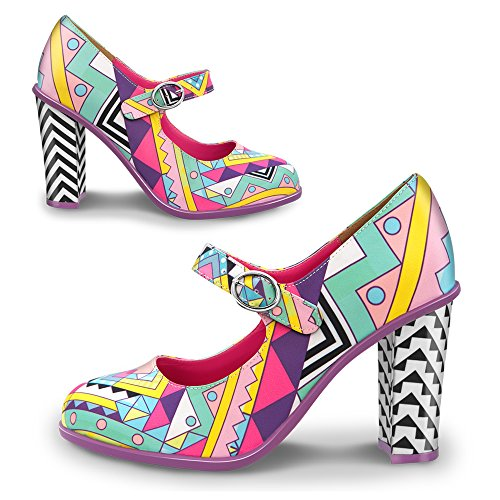 Hot Chocolate Design Chocolaticas Geometric Mary Jane Damen-Absatzschuhe Mehrfarbig