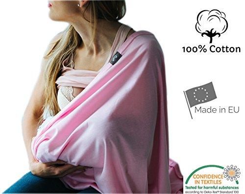 Stilltuch, endloser Schal zum Stillen aus 100 % atmungsaktiver Bio-Baumwolle, hergestellt in Europa, hochwertiger Stoff