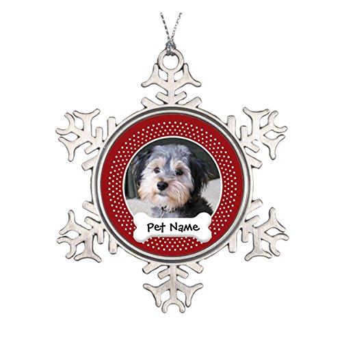 (Personalisierte Hund Foto Rahmen–einseitig Keramik rund Weihnachten Ornament)