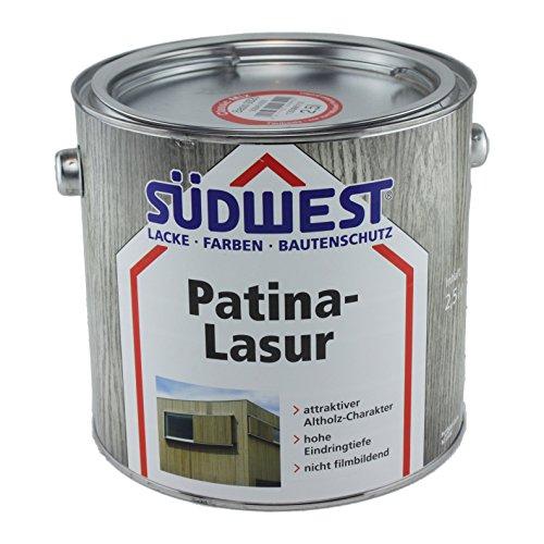Südwest Patina-Lasur Holzlasur (2,5 Liter, Treibholz)