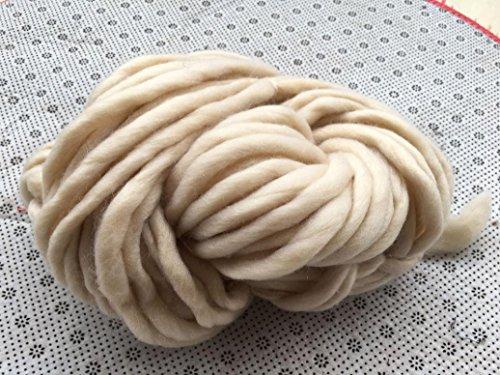Xshaui 20 * 20 * 20 cm Super Soft hypoallergen Wollgarn Sperrige Arm Stricken Wolle Roving Häkeln DIY (B)