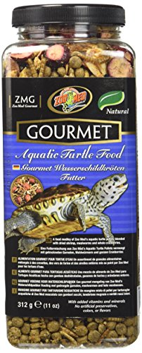 Zoo Med Gourmet Aquatic Turtle Food 340g, Futtermittel für Wasserschildkröten (Natural Food Turtle Aquatic)
