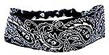 Haar-Band Haarreif Stoff Haarbaender schwarz Hair Ribbon black paisle. Haar Reifen pasli. Muster weiss (schwarz) 4523