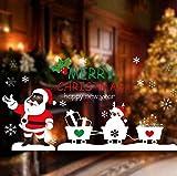 ZBYLL Ventana De Navidad Pegatinas Decoraciones De Navidad Santa Claus Carros Pegatinas De Pared Puerta De Vidrio