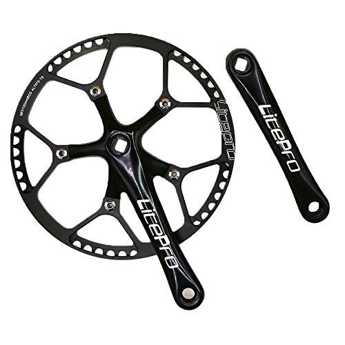 GANOPPER 58T 130BCD 170mm Kurbelarm Einzelner Geschwindigkeit Rennrad Faltrad Fixie Fixed Gear Kurbelgarnitur Für DAHON Birdy Bike -