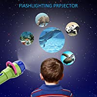 Pueri Projector Toy Kids Story Flashlight Toy Early Educational Toy Preschool Toy for Toddlers