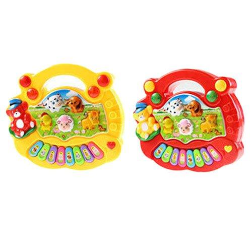 AchidistviQ Lernspielzeug für Babys, Kinder, mit Musik rot