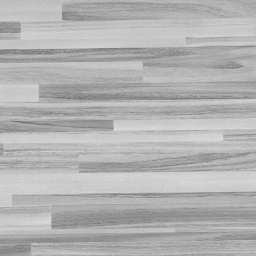 Venilia Parkett 45 cm x 200 cm Klebefolie PERFECT FIX Dekofolie Möbelfolie Tapeten selbstklebende Folie, PVC, Natur-Holzoptik grau, 45cm x 2m, 150µm (Stärke: 0,15 mm), 53337, 45 x 200 cm