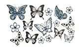 3D Temporary Tattoo Butterfly Design Size 10.5x6CM - 1PC.