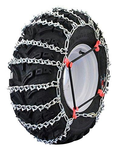 Atv Drop (Grizzlar GTU-617 Quad/ ATV Schneekette für 24x13-9, 25x10-10, 25x10-12, 25x10.5-15, 25x11-10, 25x11-12, 25x12-9, 25x12-10, 25x13-9, Anzahl 2)