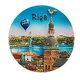 MUYU Magnet Riga Letonia 3D imán para Nevera Recuerdo turístico Regalo & colección Home & Cocina...