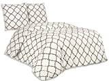 Buymax - Bettwäsche Set 2 TLG. Baumwolle Renforcé mit Reißverschluss Oeko-Tex Standardgröße, 135x200 cm, Ornament Kachel