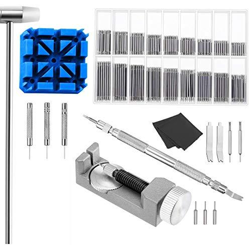 Uhrengliederentferner-Set für Uhren-Reparatur, inklusive Uhrenfeder-Werkzeug und Gliederentferner mit Uhrenstift -