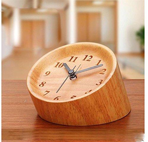 pengweiHigh-End Vintage großen quadratischen Tisch Uhr kreative Großhandel benutzerdefinierte Schlafzimmer Dekor Holz Wecker zu liefern , (Dekor Vintage Großhandel)