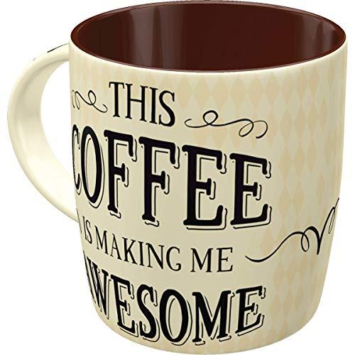 Nostalgic-Art 43026 Retro Kaffee-Becher Word up - Awesome, Lustige große Tasse mit Spruch,...