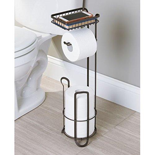 Mdesign portarotolo carta igienica senza trapanare accurato porta carta igienica da terra per - Porta carta igienica design ...