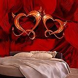 murando - Fototapete 250x175 cm - Vlies Tapete - Moderne Wanddeko - Design Tapete - Wandtapete - Wand Dekoration - Herzen a-A-0116-a-a