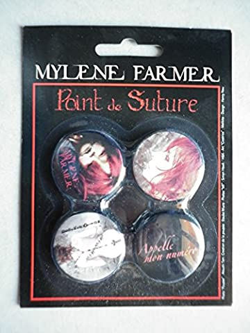 Mylene Farmer le set de 4 badges 30mm