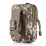 Akemiao Outlife Tactical Molle Multifunktions wasserdichte Outdoor Sports Gürteltasche (Wüste-Digital -Tarnung)