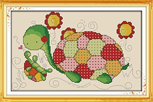 CaptainCrafts Heiß Neue Veröffentlichungen Kreuzstich Kits Muster Stickerei Kit - Schildkröte Vater Und Sohn (GESTEMPELT) Sie Sind Mein Sonnenschein-buch
