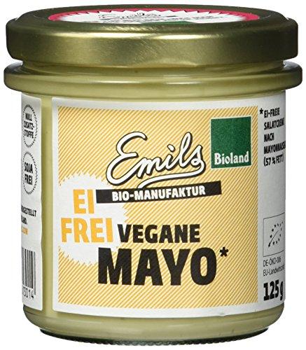 Bio-mayonnaise (Emils Bio Vegane Mayo, glutenfrei und ohne Ei, 6er Pack (6 x 125 g))