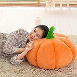 Pumpkin Plush Pillow Toy, Indexp Halloween Emoji Cushion Doll Home Decroation Gift (40cm/Diameter, Yellow)