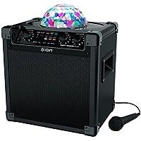 ION Audio Party Rocker Plus - 50W Kabelloser Lautsprecher - BT Speaker mit LED und Mikrofon mit 6.5 zoll Woofer - Nutzungsdauer: 8 bis 50 Stunden - Echo Effect für Karaoke