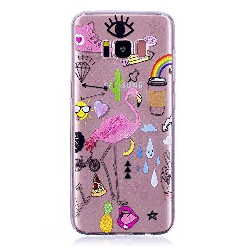 Galaxy S8 Hülle, Samsung Galaxy S8 Hülle, Anlike für Samsung Galaxy S8 (5,8 Zoll) Case / Handy Hülle / Schutzhülle / Handytasche / Cover / TPU Silikon Handy Tasche {Durchsichtig Muster Serie} - Liebesleben