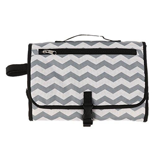 Sharplace Tragbare Wasserdichte Wickeltasche Für Babys - Streifen