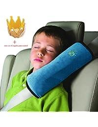 Koly Ajustador Resistente Protección del hombro almohada de seguridad del coche para niños (Azul)