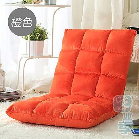 Dngy*persona perezoso sofá sofá pequeño único asiento sofá cama suelo de tatami bañera silla asiento perezosos ,110*50 cm naranja