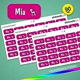 Stickerella - 90 Namensaufkleber für Kinder - Namensetiketten für Schule