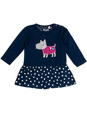 SALT AND PEPPER Baby-Mädchen Kleid B Dress Happy Hund Punkte